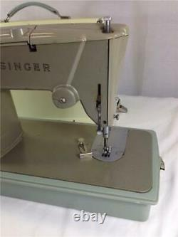 Vintage Singer 328K Heavy Duty Sewing Machine Made In Great Britain & Canada