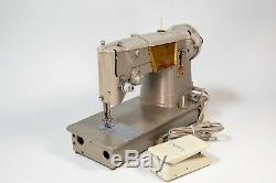 Vintage Singer 328K Heavy Duty Sewing Machine Style-O-Matic With Foot Pedal MCM
