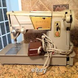 Vintage Singer 328K Sewing Machine Style-o-Matic Heavy Duty with pedal