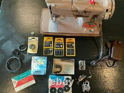 Vintage Singer 328K Sewing Machine Style-o-Matic Heavy Duty with pedal/attachments