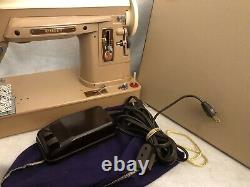 Vintage Singer Heavy Duty Sewing Machine Model 404 WORKS With Carry Case + Pedal