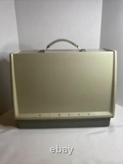Vintage Singer Model 328K Heavy Duty Upholstery Sewing Machine Foot Pedal & Case