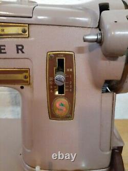 Vintage Singer Model 328K Heavy Duty Upholstery Sewing Machine with Foot Pedal