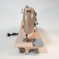 Vintage White 764 Heavy Duty Zig Zag Sewing Machine Made Japan Tested Beautiful