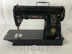 Vtg Singer 301A Slant Needle, Portable Sewing Machine, Heavy Duty Black & Clean
