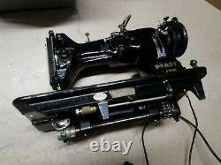 Working 1954 Vtg German PFAFF 1.3 amp 130 Heavy Duty Sewing Machine and Manual